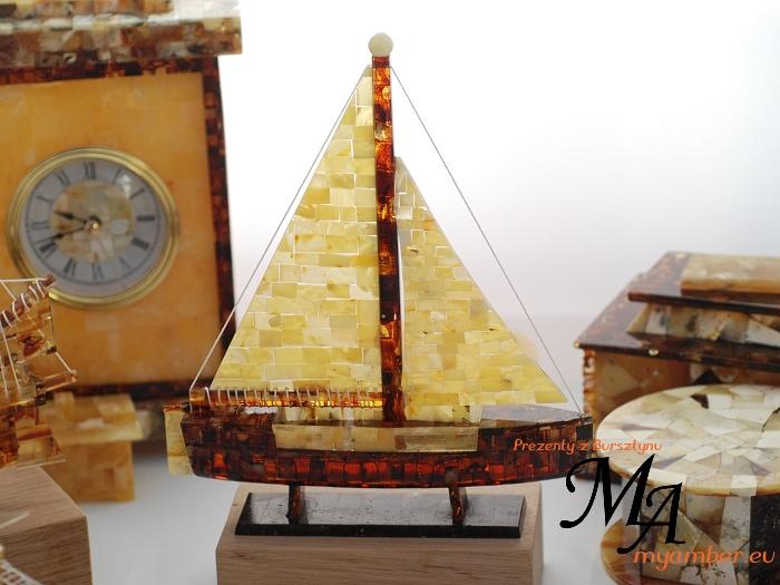 żaglówka bursztyn prezenty z bursztynu dla firm statek bursztynowy żaglowiec producent sklep pracownia myamber