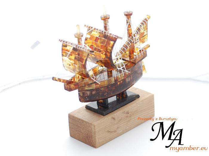 statek bursztynowy zaglowiec wyroby